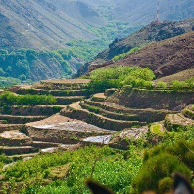 Photo Randonnée en VTT dans les montagnes d'atlas