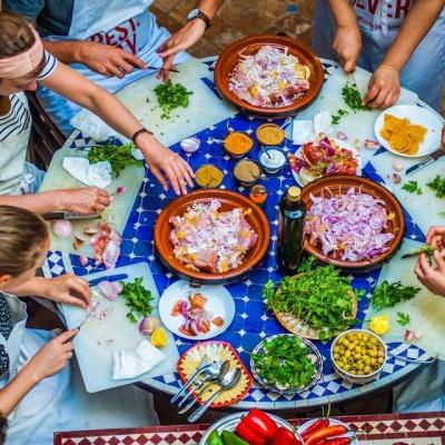Photo Marrakech : l'art de cuisiner le tajine à la marocaine